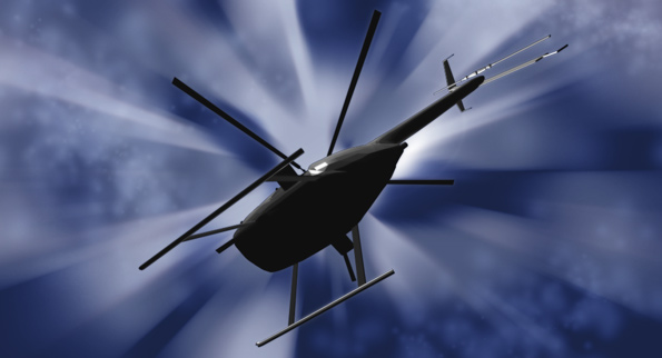 blue helicopter graphic