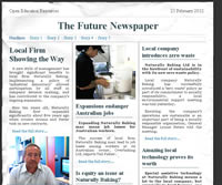 CSS/HTML newspaper screenshot - click to open in a new window