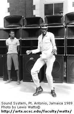 Sound System, Pt. Antonio, Jamaica 1989 Photo by Lewis Watts© (Click to visit website)